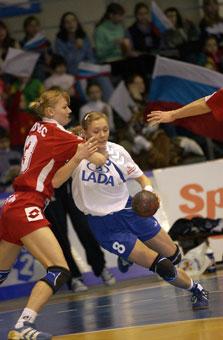 Мария Колчина в матче Лиги чемпионов с хорватской Подравкой