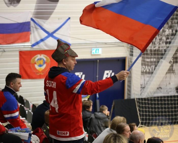 Российские болельщики на датских трибунах